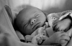 Holistic Acupuncture sleeping newborn
